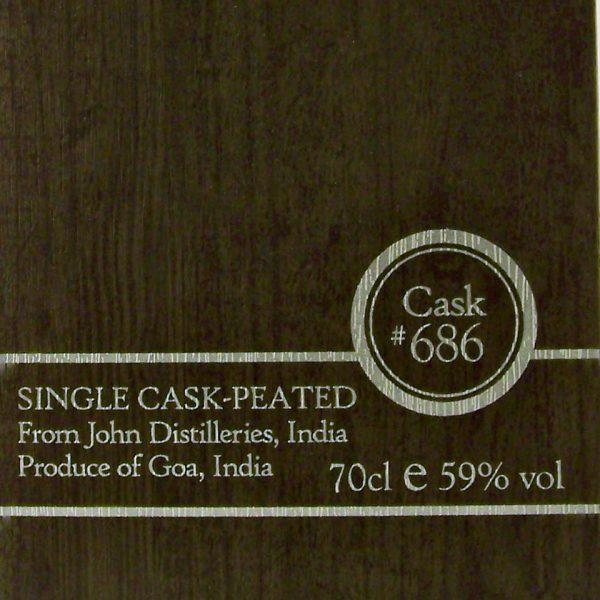 Paul John Single Cask 686 Peated Indian Single Malt Whisky