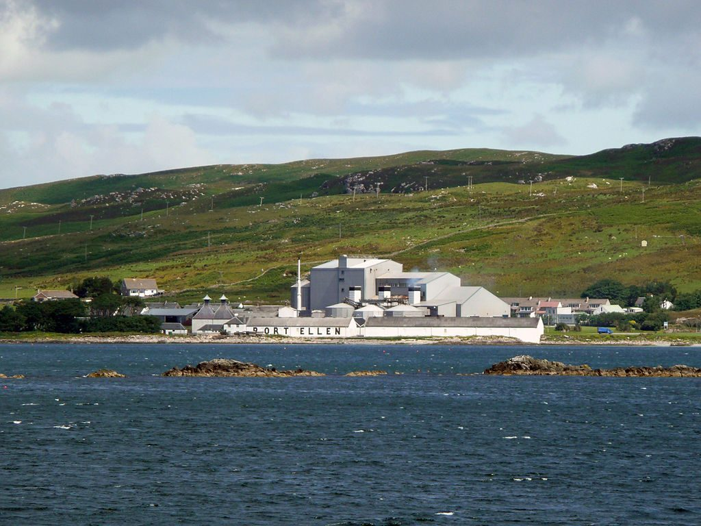 Port Ellen Whisky Distillery now a malting plant