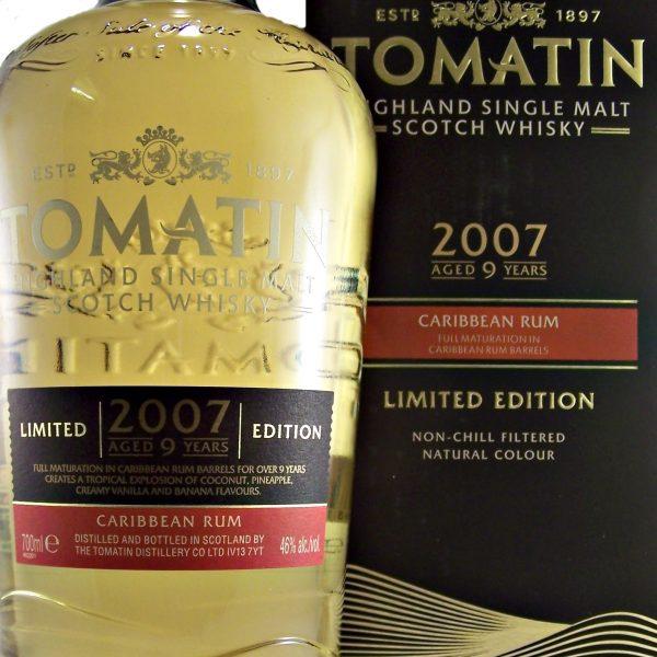 Tomatin 2007 Caribbean Rum Cask Single Malt Whisky