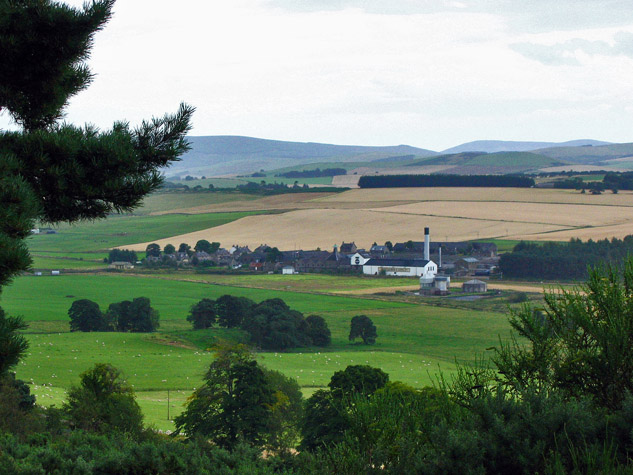 Ardmore Whisky Distillery, Kennethmont The view from Graigfall Wood, Leith Hall.