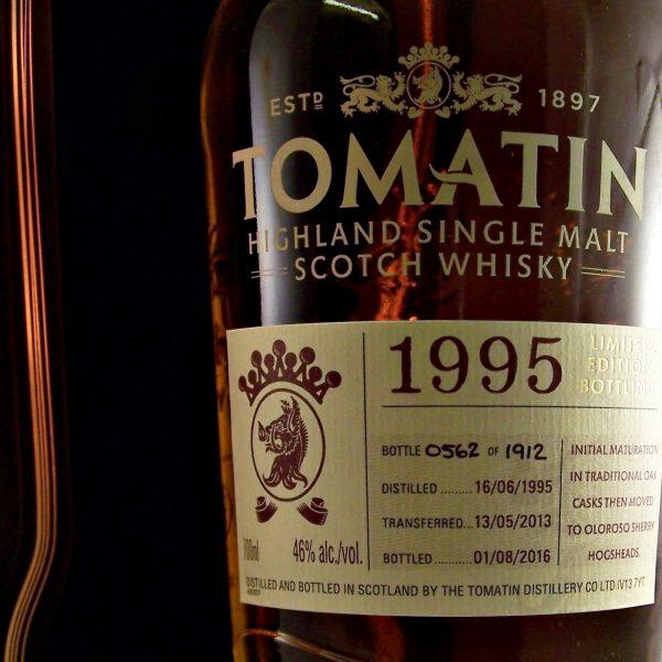 Tomatin 1995 Sherry Cask Finish single malt whisky