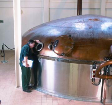 Talisker Whisky Distillery mash tun