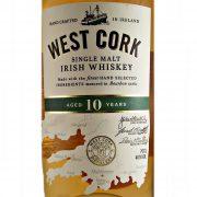 West Cork Single Malt Irish Whiskey 10 year old