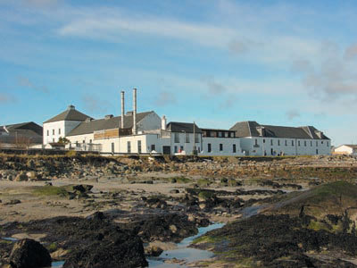 Bruichladdich Whisky Distillery from the beach