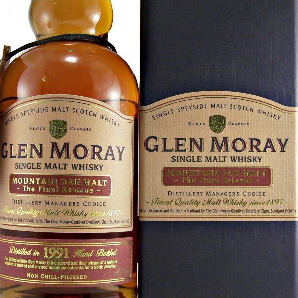 Glen Moray 1991 Mountain Oak Final Release Mangers Choice