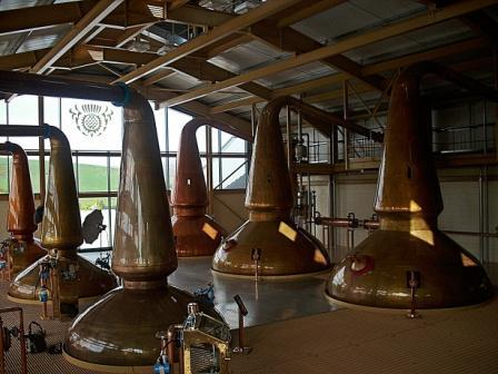 Glenlivit Whisky Distillery New Still house
