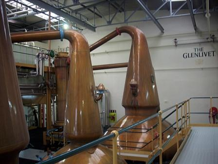 Glenlivit Whisky Distillery Original  Still house