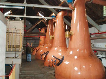 BenRiach Whisky Distillery Stills