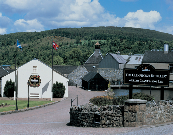 Glenfiddich whisky distillery entrance
