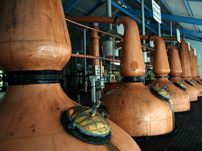 Laphroig whisky Distillery Stills