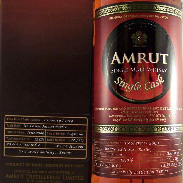 Amrut PX Sherry Cask Indian Single Malt