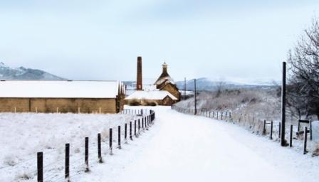 Balblair Whisky Distillery In the snow