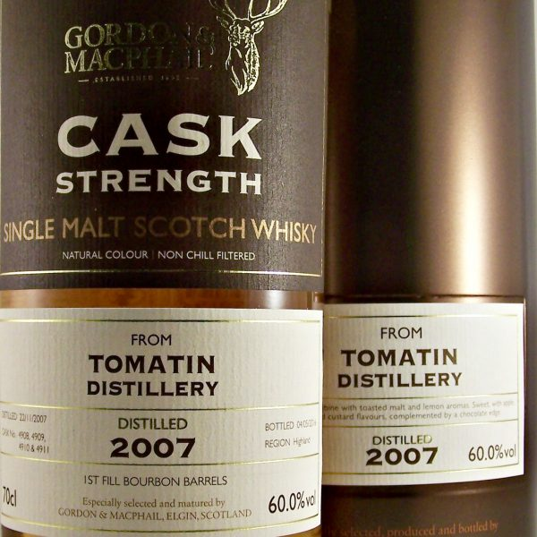 Tomatin 2007 Cask Strength Malt Whisky