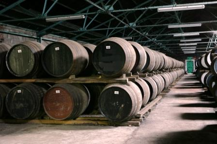 Glenkinchie Whisky Distillery casks