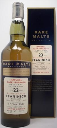 Teaninich Single Malt Whisky 23 year old Rare Malts Selection