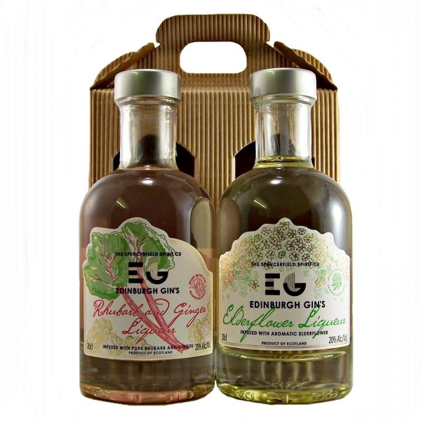 Edinburgh Gin Liqueur Gift Set Rhubarb & Ginger