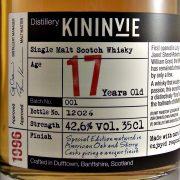 Kininvie 17 year old Batch 1 single malt whisky