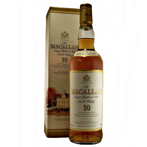 Macallan 10 year old exclusively matured in Sherry Oak Casks