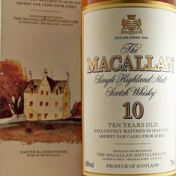 Macallan 10 year old Sherry Oak Casks