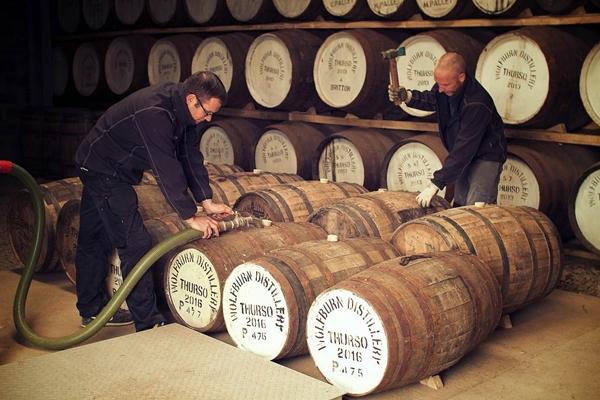 Wolfburn Whisky Distillery Casks Filling