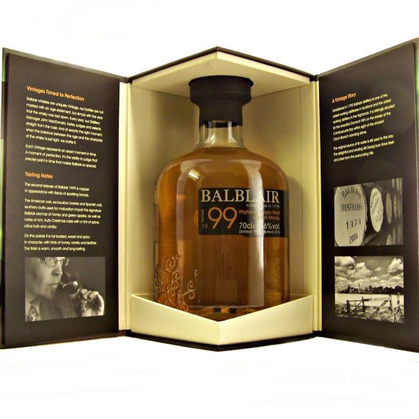 Balblair 1999 Vintage Single Malt Whisky