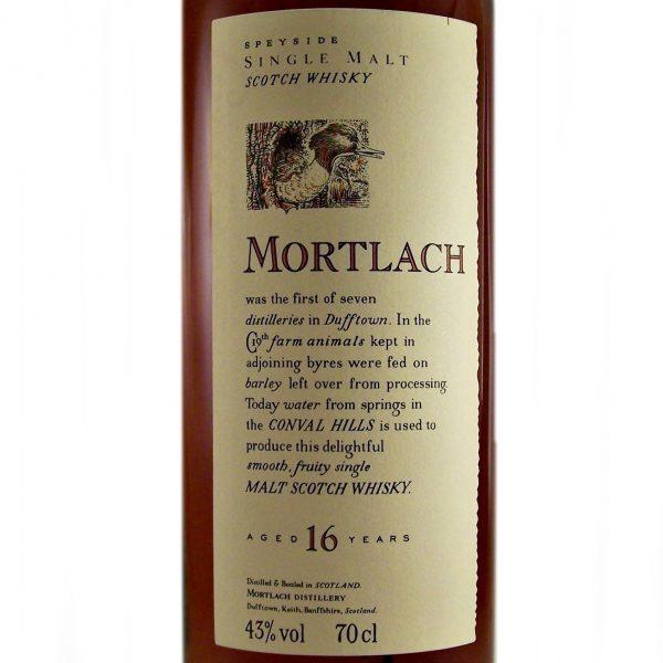 Mortlach 16 year old Single Malt Whisky Flora & Fauna