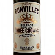 Dunvilles Three Crowns Irish Whiskey Belfast