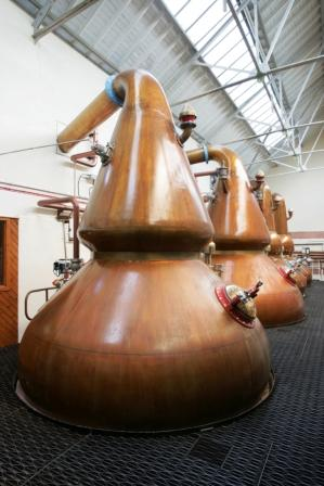 Knockando Whisky Distillery Stills