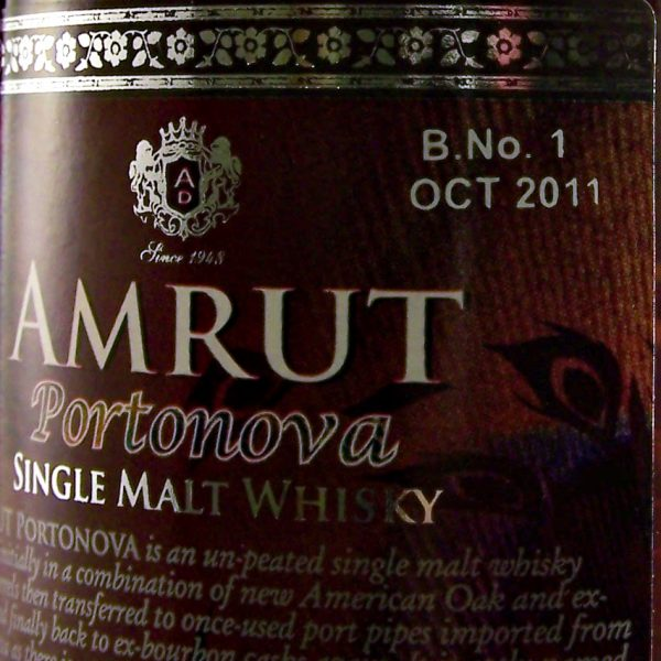 Amrut Portonova 1st Edition Indian Single Malt