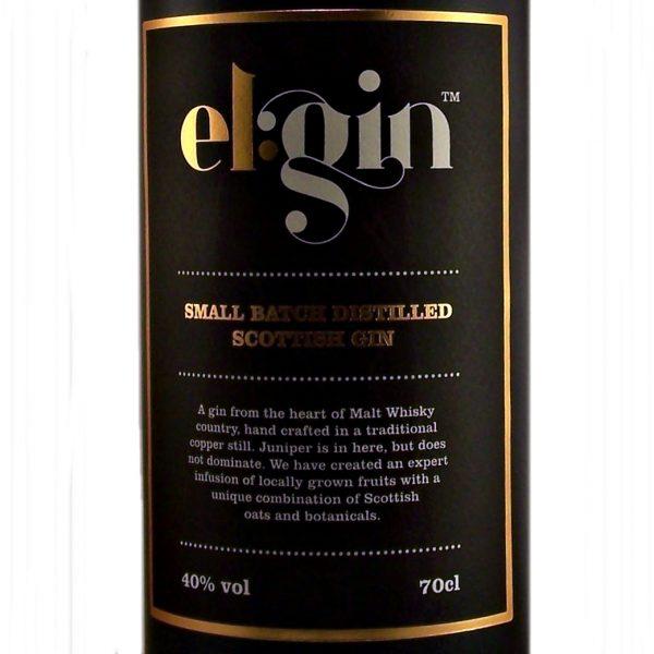 Elgin Gin small batch Scottish