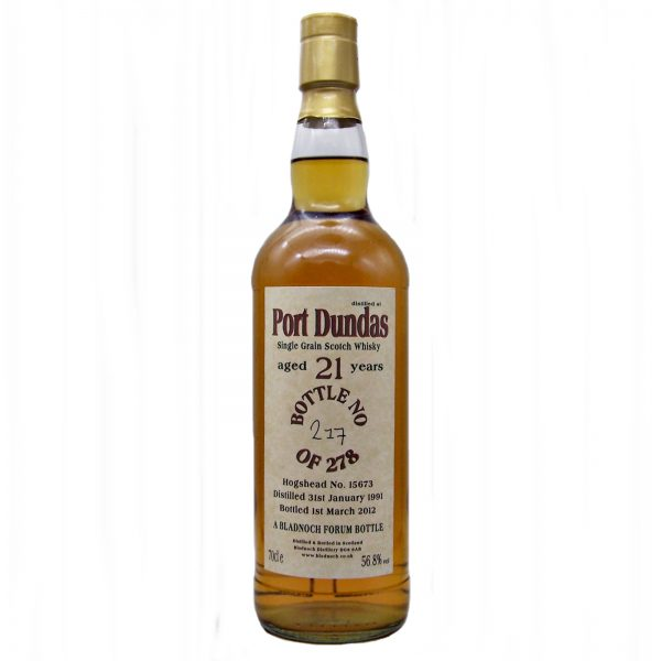 Port Dundas 21 year old Single Grain Whisky