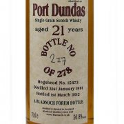Bladnoch Forum 21 year old Port Dundas