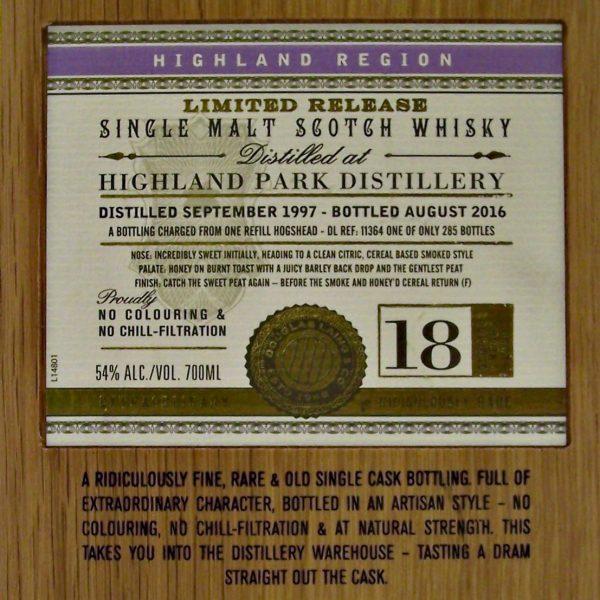 Highland Park 18 year old XOP Single Malt Whisky
