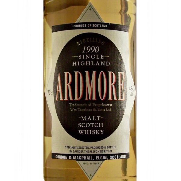 Ardmore 1990 Single Malt Whisky Gordon and MacPhail