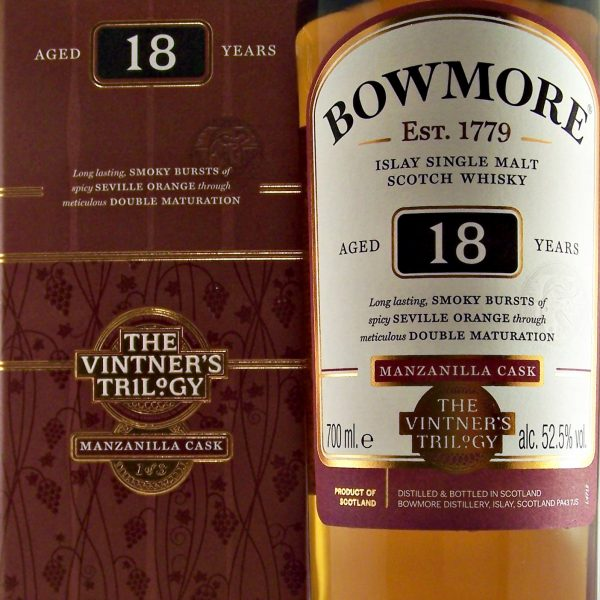 Bowmore 18 year old Manzanilla Cask vintners trilogy