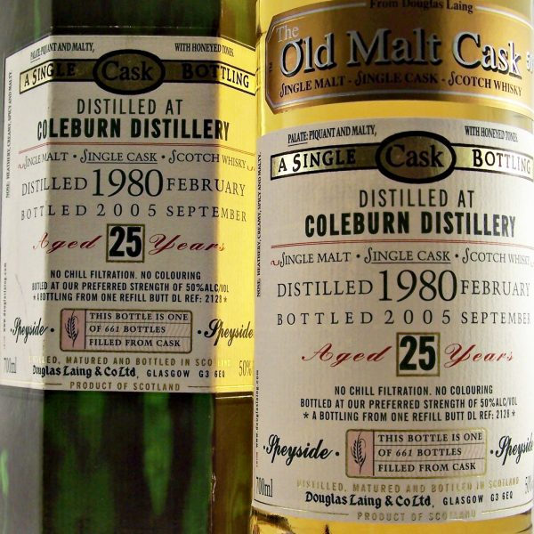 Coleburn 25 year old 1980 Single Malt Whisky closed