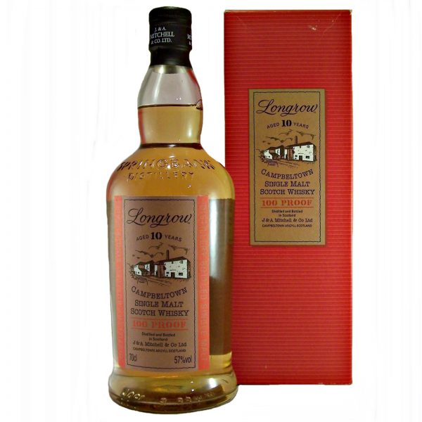 Longrow 10 year old 100 Proof Single Malt Whisky