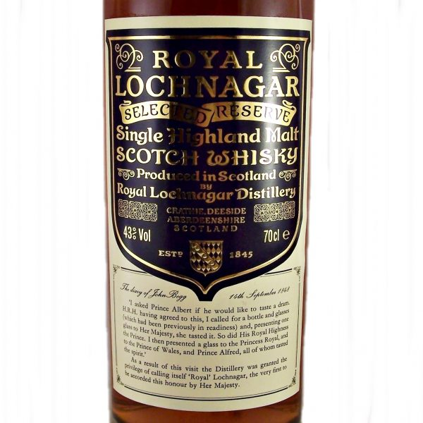 Royal Lochnagar Selected Reserve Scotch Whisky