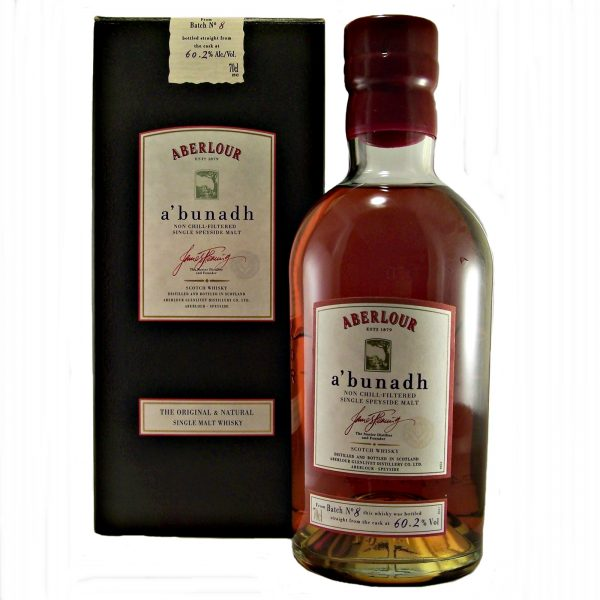 Aberlour abunadh Malt Whisky Batch No: 8 Cask Strength