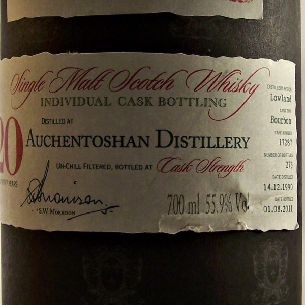 Auchentoshan 20 year old A D Rattray