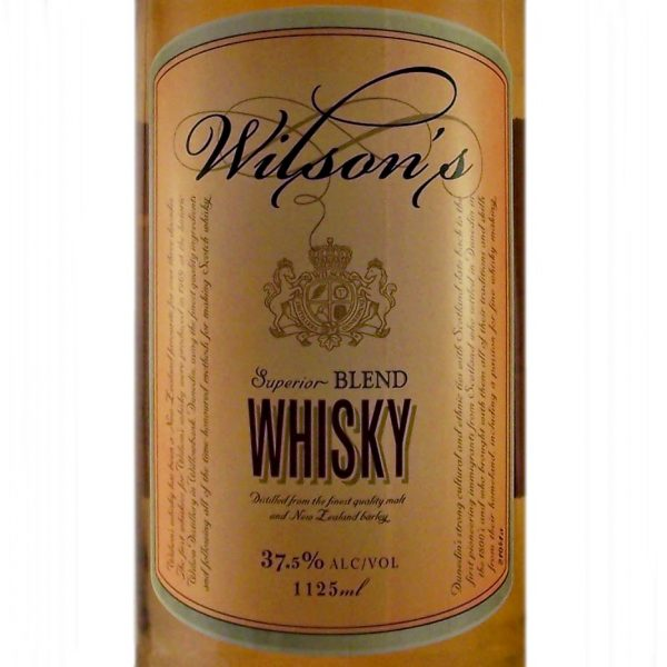 Wilson's 7 year old New Zealand Whisky blend