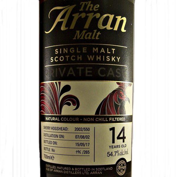 Arran Private Cask 14 year old Single Malt Scotch Whisky