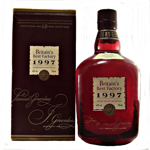 Old Parr 15 year old Britain's Best Factory 1997