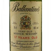 Ballantines 17 year old 1980s whisky