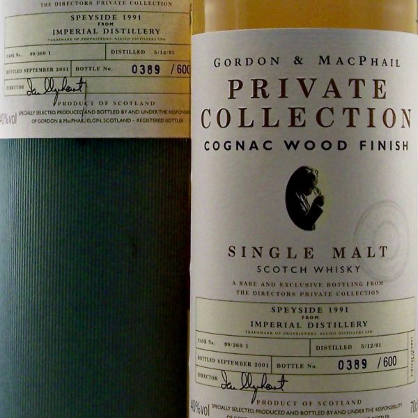 Imperial 1991 Cognac Wood Finish Gordon & MacPhail Private Collection