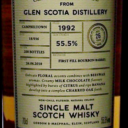 Glen Scotia 1992 Cask Strength Connoisseurs Choice Whisky