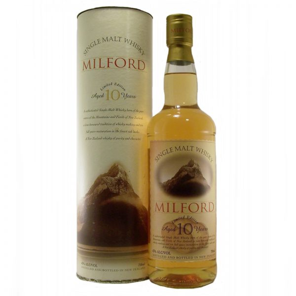 Milford Limited Edition 10 year old New Zealand Single Malt Whisky