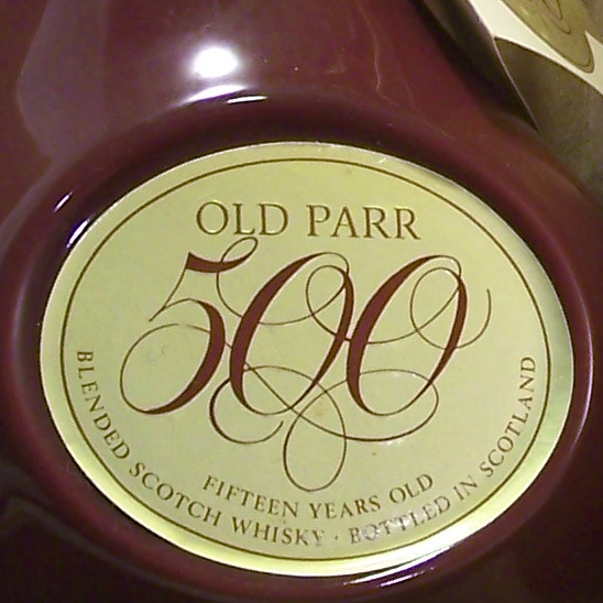 Old Parr 500 Decanter 15 year old Scotch Whisky