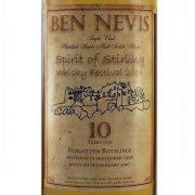 Ben Nevis 10 year old Spirit of Stirling Whisky Festival forgotten bottling