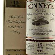 Ben Nevis 15 year old 1996 Single Malt Whisky